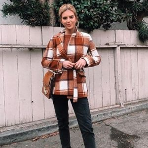 Boohoo - Plaid Wool Look Coat